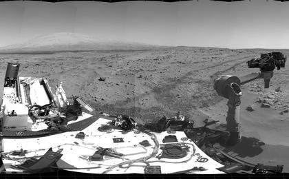 see the image 'Curiosity's Location During First Scooping'