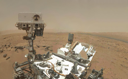 see the image 'Preliminary Self-Portrait of Curiosity by Rover's Arm Camera'