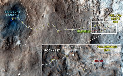 see the image 'Curiosity Traverse Map, Sol 123'