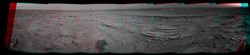 Image of Sol 120 Panorama from Curiosity, near 'Shaler' (Stereo)
