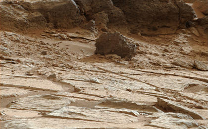 see the image ''Point Lake' Outcrop in Gale Crater'