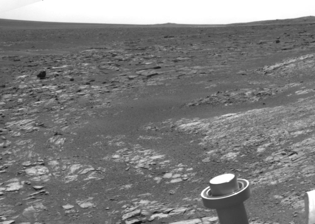 NASA's Mars Exploration Rover Opportunity used its navigation camera to acquire this view looking toward the southwest on the mission's 3,315th Martian day, or sol (May 21, 2013).
