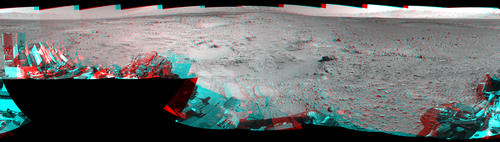 Rocky Mars Ground Where Curiosity Has Been Driving (Stereo)