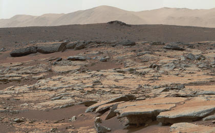 see the image 'Erosion by Scarp Retreat in Gale Crater (Unannotated)'