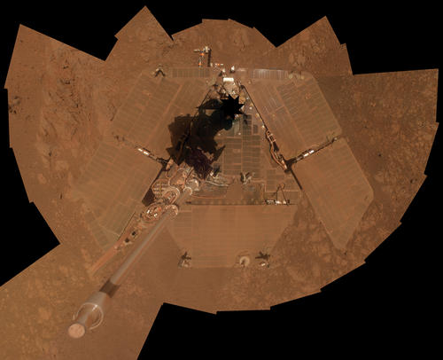 Self-Portrait by Opportunity Mars Rover in January 2014