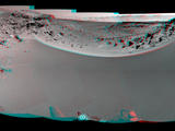 read the article 'NASA Mars Rover's View of Possible Westward Route'
