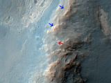 read the article 'NASA Mars Orbiter Views Opportunity Rover on Ridge'