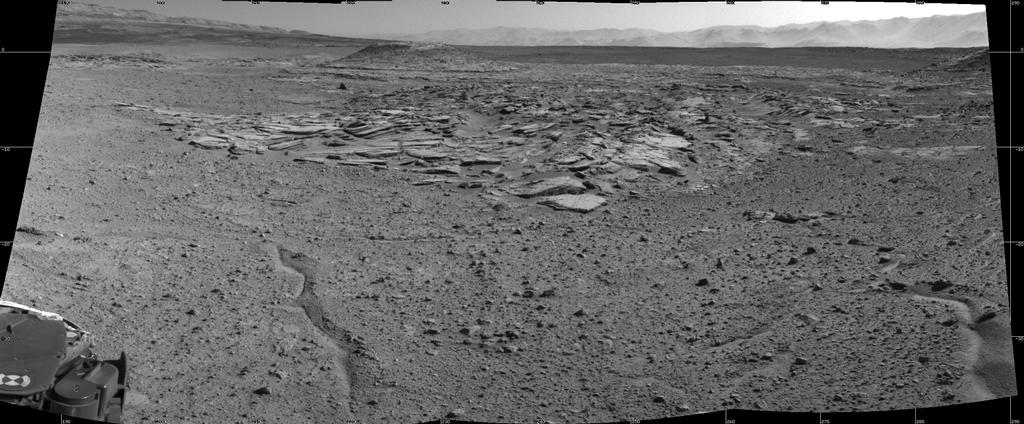 "NASA's Curiosity Mars rover recorded this view of various rock types at waypoint called ""the Kimberley"" shortly after arriving at the location on April 2, 2014. The site offers a diversity of rock types exposed close together in a decipherable geological relationship to each other."