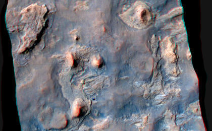 see the image 'Stereo View of Curiosity and Rover Tracks at 'the Kimberley,' April 2014'