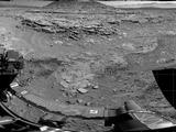 'Mount Remarkable' and Surrounding Outcrops at Mars Rover's Waypoint