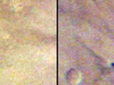 This pair of images taken one day apart by the Mars Color Imager (MARCI) weather camera on NASA's Mars Reconnaissance Orbiter reveals when an asteroid impact made the scar seen in the right-hand image. The left image was taken during Martian afternoon on March 27, 2012; the right one on the afternoon of March 28, 2012.
