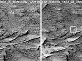 These images from the Context Camera on NASA's Mars Reconnaissance Orbiter were taken before and after an apparent impact scar appeared in the area in March 2012. Comparing the Jan. 16, 2012, image (left) with the April 6, 2014, one (right) confirms that fresh craters appeared during the interval.
