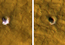 see the image 'Underground Ice on Mars Exposed by Impact Cratering'