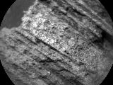 "This May 15, 2015, image from the Chemistry and Camera (ChemCam) instrument on NASA's Curiosity Mars rover shows detailed texture of a rock target called ""Yellowjacket"" on Mars' Mount Sharp. This was the first rock target for ChemCam after checkout of restored capability for autonomous focusing."