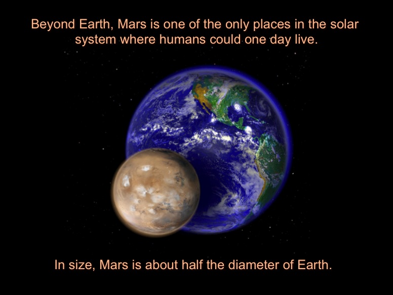 size of earth to mars - photo #12
