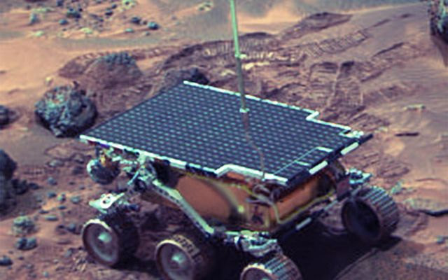 "Sojourner Rover Near ""The Dice"""