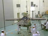 Mariner spacecraft in clean room 1963.