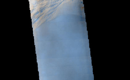 read the article 'Morning Clouds Atop Martian Mountain'
