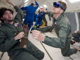 NASA and Microsoft engineers test Project Sidekick on NASA's Weightless Wonder C9 jet. Project Sidekick will use Microsoft HoloLens to provide virtual aid to astronauts working on the International Space Station.