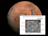 This image shows the different exploration zones for Mars landing sites for human missions to the surface of Mars.