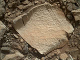 read the article 'NASA's Curiosity Rover Inspects Unusual Bedrock'