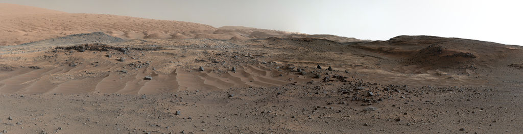 view 'Curiosity Rover's View of Alluring Martian Geology Ahead'