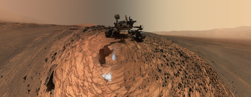 view 'Curiosity Low-Angle Self-Portrait at 'Buckskin' Drill Site'