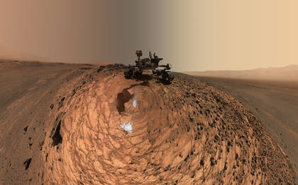 see the image 'Curiosity Low-Angle Self-Portrait at 'Buckskin' Drilling Site on Mount Sharp'