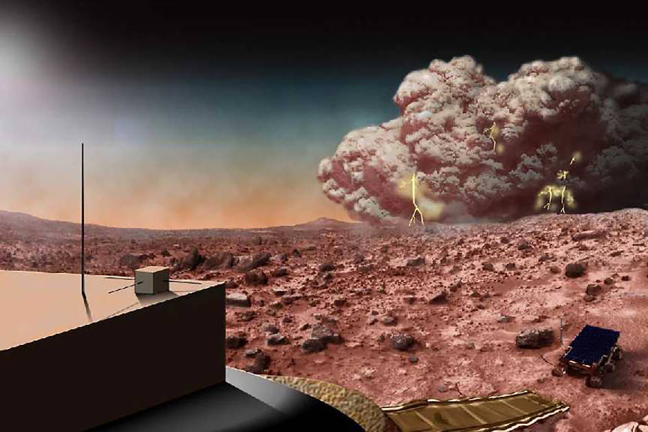 Illustration of a Martian Dust Storm