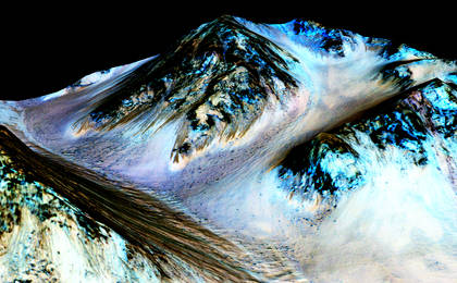 read the article 'Recurring 'Lineae' on Slopes at Hale Crater, Mars'