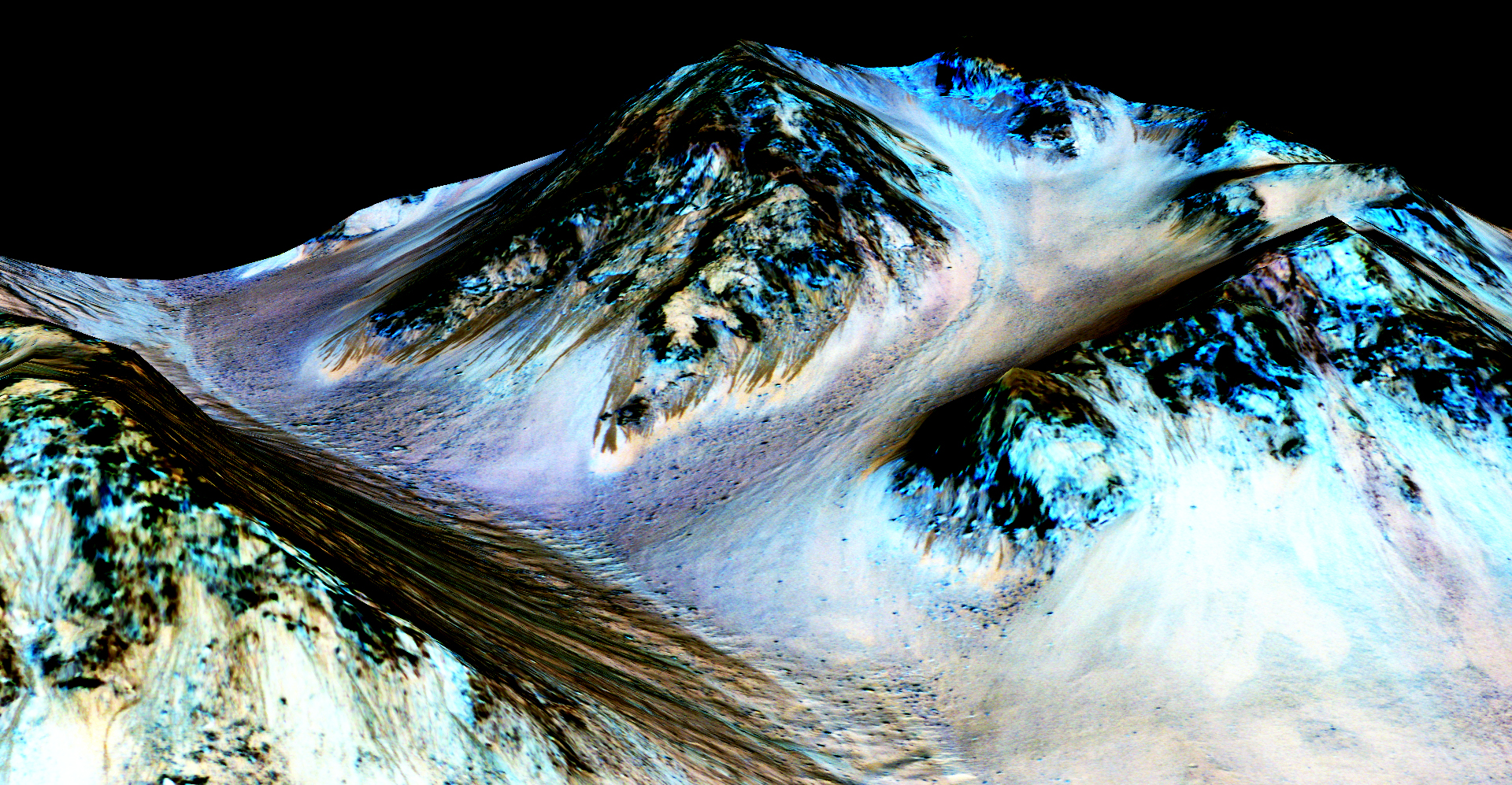 water on mars the story so far news astrobiology recurring lineae on slopes at hale crater mars the imaging and topographical information in this processed false color view come from the high
