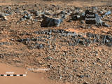 "An image taken at the ""Hidden Valley"" site, en-route to Mount Sharp, by NASA's Curiosity rover."