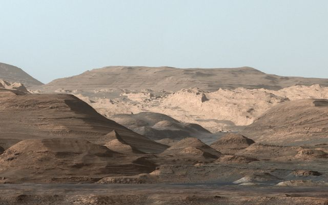 Pictured here are the higher regions of Mt. Sharp.