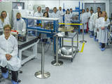 JPL's Integrated CubeSat Development Laboratory is 1,250 square feet of pristine tabletops and freshly scrubbed air dedicated to the manufacture and testing of CubeSat spacecraft. Four different CubeSat mission teams can utilize the clean room at the same time.