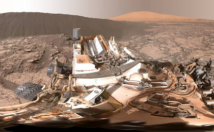 read the article 'Full-Circle Panorama Beside 'Namib Dune' on Mars'