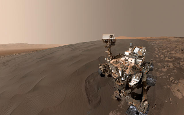 Curiosity Self-Portrait at 'Gobabeb' Scooping Site
