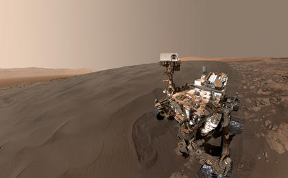 read the article 'Curiosity Self-Portrait at Martian Sand Dune'