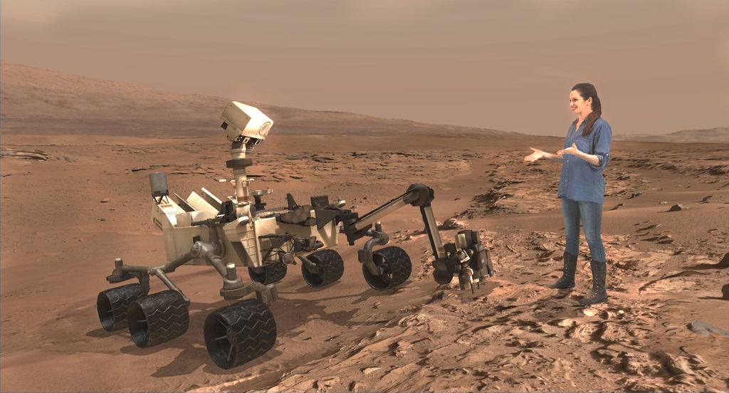 Read article: 'Mixed Reality' Technology Brings Mars to Earth