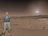 "Buzz Aldrin, an Apollo 11 astronaut who walked on the moon, makes a holographic appearance in ""Destination: Mars,"" a mixed-reality tour of a part of Mars that NASA's Curiosity rover has explored."