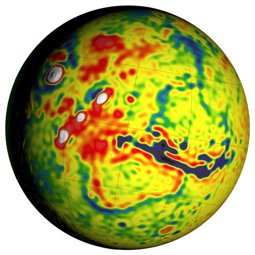 Local Variations in the Gravitational Pull of Mars