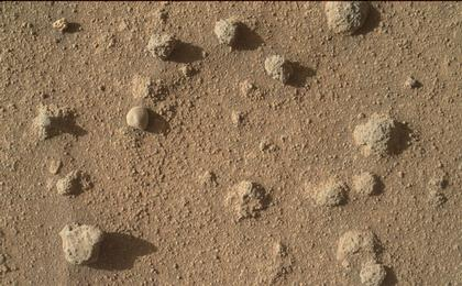 read the article 'Nodules of Cemented Sand Grains Within Martian Sandstone'