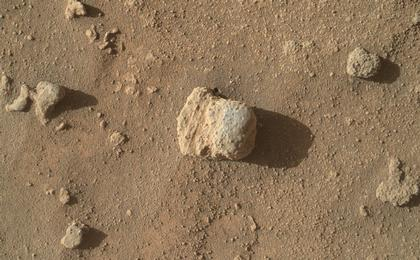 read the article 'Sandstone Nodule Beside 'Naukluft Plateau' on Mount Sharp, Mars'