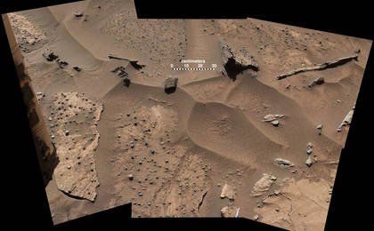 read the article 'Knobbly Textured Sandstone on Mount Sharp, Mars (Labeled)'