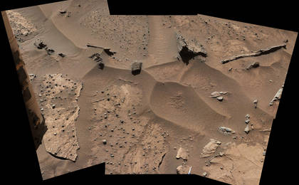 read the article 'Knobbly Textured Sandstone on Mount Sharp, Mars'
