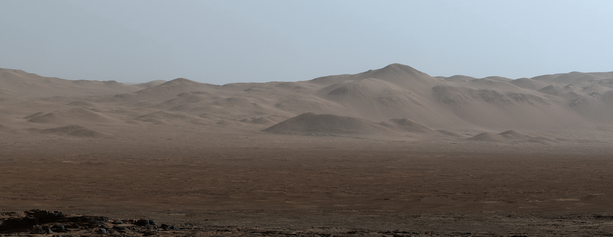 view 'Northern Portion of Gale Crater Rim Viewed from 'Naukluft Plateau'