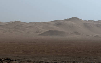 read the article 'Northern Portion of Gale Crater Rim Viewed from 'Naukluft Plateau''