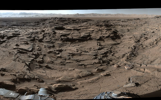 read the article 'Curiosity Mars Rover Crosses Rugged Plateau'