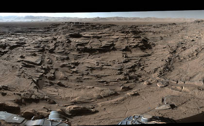 read the article 'Full-Circle Vista from 'Naukluft Plateau' on Mars'