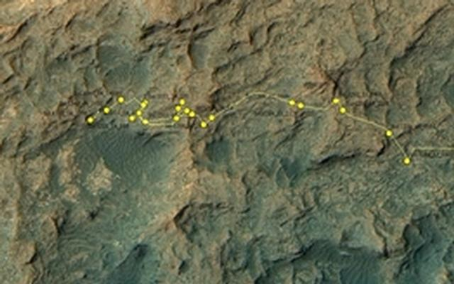 Curiosity Rover's Location for Sol 1352