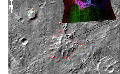 read the article 'Evidence Builds for Old Under-Ice Volcanoes on Mars'